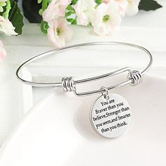 Expandable Bracelet You Are Braver Stronger Smarter Than You Think Jewerly Gifts Bangle Bracelets, Bangles, Mothers Bracelet, Christian Gifts For Women, Mother Gifts, Brave, Thinking Of You, Jesus Bible, God Jesus