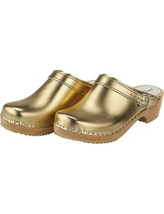 Solid gold clogs from Sweden. Hellz Yeah. $68