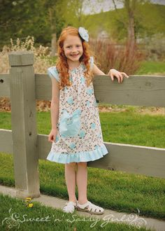 PDF/Downloadable Sewing Patterns by Whimsy Couture: Angel (Flutter) Sleeve Top Dress Ebook
