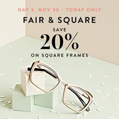 Day 3 of our Fab 5 Days of Savings! Enjoy 20% off all square frames. Coupon code: FAB20 Check in every day for new deals! http://www.bonlook.com/promo/square5fabdays?coupon=FAB20  #BonLook #BonLookBlog #FAB20 #Thanksgiving #CyberMonday #BlackFriday #Fab5DaysofSavings