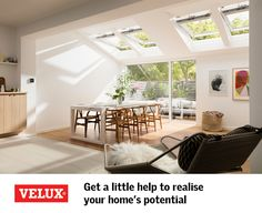 If you're planning a project right now, whatever stage you're at the VELUX Project Support Team are on hand to help - free of charge. Roof Lantern, Free Advice, Anglesey, Attic Ideas, Living Spaces, Living Room, Grand Designs, House Extensions, Cottage Ideas