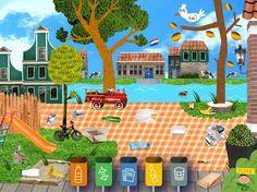 Een leuk afvalspel waarin kinderen meer ontdekken over zwerfafval en afval scheiden. Long Bob Cuts, Drawing Competition, Our World, Go Green, Free Games, Preschool Activities, Bob Hairstyles, Environment, Challenges