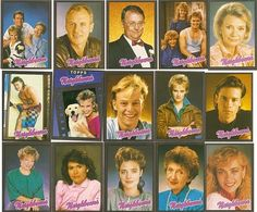 'Neighbours' cast as I remember. These are collector cards. 1980s Childhood, My Childhood Memories, Back In My Day, Retro Party, 90s Nostalgia, First Tv, Young At Heart, Teenage Years, Old Tv