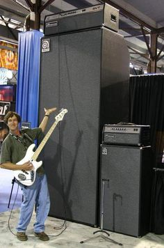 Crandon Starbird‎The bass guitar September 4 · This fully functional Ampeg rig is insane!! The head consists of two SVT's wired together sitting on top of a 36x10 cabinet. Mother of God....