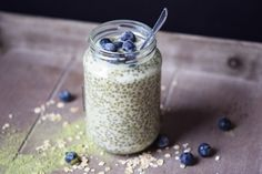 Overnight oats with wheatgrass on the go!