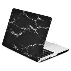 """Black Marble Rubberized Hard Case for MacBook Pro 13"""" with Retina Display Model A1425 / A1502 - TOP CASE"""