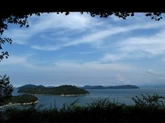 A view of Japan's Inland Sea from an Oval Room at Benesse House.