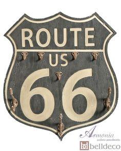 Loft Tabliczka/Wieszak Route 66