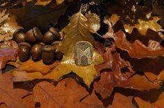 Mannaz  Rune Amulet Pendant Handmade Brass Wicca Pagan Viking Druid