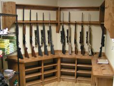 Quality rotary gun racks quality pistol racks custom for Walk in gun safe plans
