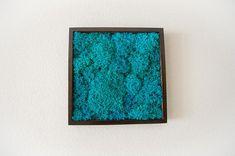 Ocean blue living wall decor preserved moss artwork vertical