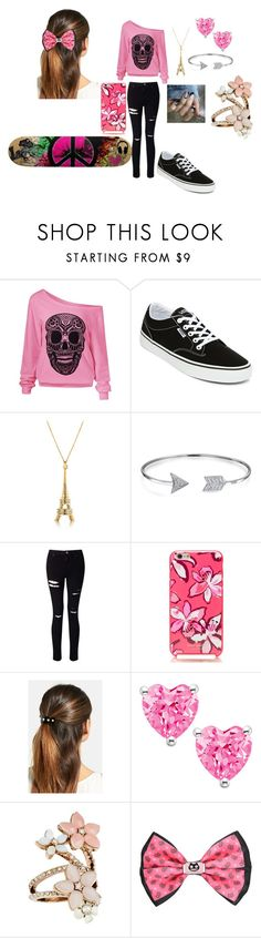 """Skate Park with friends"" by layanna2468 ❤ liked on Polyvore featuring Vans, Bling Jewelry, Miss Selfridge, Kate Spade, L. Erickson, Accessorize and Cartoon Network"
