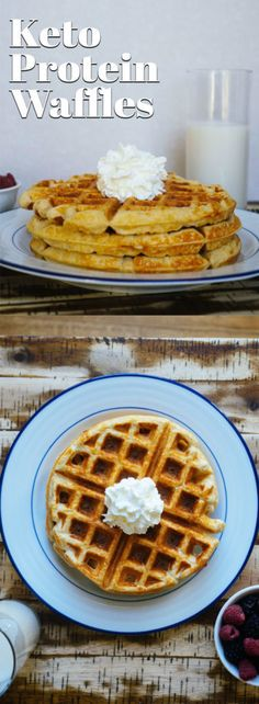This Keto Protein Waffle Recipe is the perfect after dinner, guilt free snack that will satisfy your sweet tooth cravings! This Keto Protein Waffle Recipe is the perfect after dinner, guilt free snack that will satisfy your sweet tooth cravings! Keto Foods, Keto Diet Drinks, Keto Approved Foods, Keto Recipes, Healthy Waffle Recipes, High Protein Waffle Recipe, Keto Waffle, Ketogenic Recipes, Easy Recipes