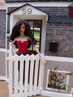 Barbie doll HOUSE DIORAMA ... custom 1/6 scale for doll Dream House... by CHANIKAVA/Anastacia Leigh