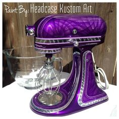 Custom Kitchenaid Stand Mixer by Headcase Kustom Art www.headcasekustomart.com