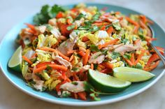 Vietnamese Shredded Chicken Salad Oh my gosh this looks so good. I would use white meat but this looks delicious.