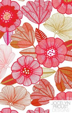 Art Inspiration: Beautiful Floral Print Pattern.
