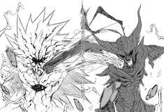 One-Punch man - boros vs garou One Punch Man Anime, Anime Girl Hot, Anime One, Cartoon Drawing Tutorial, Cartoon Drawings, Saitama, Gorillaz, Lord Boros, Art Of Fighting