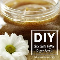 Soften your skin and smell delicious with this decadent chocolate + coffee sugar detoxifying, exfoliating scrub! #OrganicBeauty