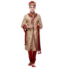 Xiva Cotsfabs is a brand that celebrates the essence of the modern Indian woman. Wedding Sherwani, Indian Ethnic, Beige, Silk, How To Wear, Women, Women's, Woman, Silk Sarees