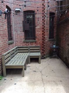 diy city patio, home decor, outdoor living, painted furniture, pallet, succulents, tools, reupholster