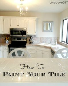 How To Paint Tile:This will come in handy one day with all of these homes in Florida with the nasty outdated colored tiles in all the bathrooms! Cheap quick fix for sure!