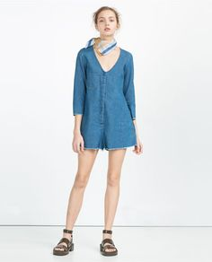 ZARA - WOMAN - SHORT JUMPSUIT WITH V-NECK