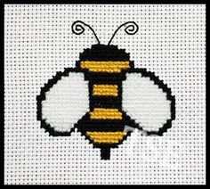 Bumble Bee Cross Stitch (Printable PDF Pattern) - Immediate Download from Etsy - Cute  / Insect / Outdoors / Baby