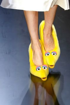 Sesame Street Mink Big Bird Pumps on http://www.drlima.net