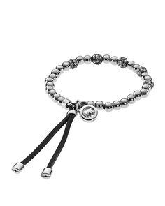 Michael Kors Pavé Beaded Leather Bracelet | Bloomingdale's