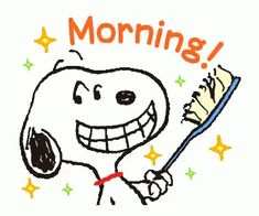 Snoopy Morning GIF - Snoopy Morning BrushYourTeeth - Discover & Share GIFs The Effective Pictures We Offer You About GIF cute A quality picture can tell you many things. You can find the most beautifu Good Morning Snoopy, Good Morning Funny, Good Morning Wishes, Morning Cartoon, Morning Humor, Snoopy Comics, Snoopy Images, Snoopy Pictures, Peanuts Cartoon