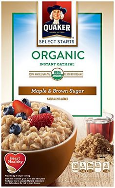 Quaker Instant Oatmeal Organic Maple & Brown Sugar, 8-Count Boxes (Pack of 4) - http://goodvibeorganics.com/quaker-instant-oatmeal-organic-maple-brown-sugar-8-count-boxes-pack-of-4/