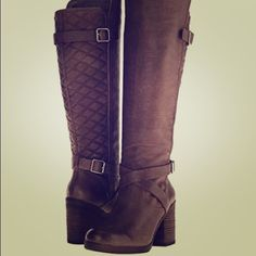 """NEW Lucky Brand boot, size 6.5 New in box. Leather. Size 6.5. Color: Clay (brown). Tall shaft (15"""" on back side, 17"""" on front side). Heel 2.5"""". Lucky Brand Shoes Heeled Boots"""
