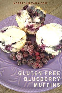 Healthy Gluten Free Recipes, Gluten Free Diet, Healthy Snacks, Vegetarian Recipes, Gluten Free Blueberry Muffins, Blue Berry Muffins, Breakfast Muffins, Breakfast Recipes, Low Sugar Diet
