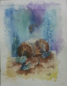 Watercolour aquarium