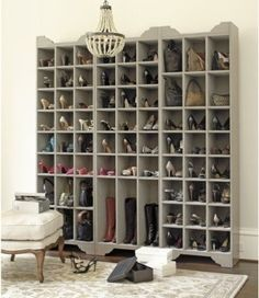 I can't wait to have the home and space to be able to display my shoes, purses, sunglasses, jewelry and all those goodies that make my style.