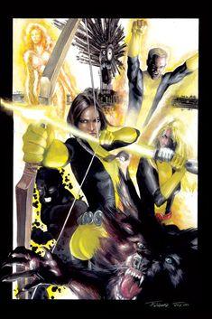New Mutants by J.K. Woodward