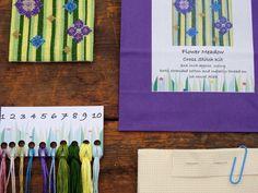 Stitch Kit, Metallic Thread, Cross Stitch, Flowers, Punto De Cruz, Seed Stitch, Cross Stitches, Royal Icing Flowers, Flower