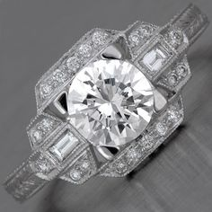 Deco Engagement Ring Setting
