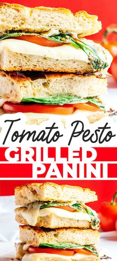 Enjoy the flavors of the Mediterranean at home with this easy Caprese Panini recipe. Made with tomatoes, mozzarella, pesto, and focaccia! #sandwich #caprese #panini #mediterranean #italian #vegetarian Best Vegetarian Sandwiches, Vegetarian Italian Recipes, Healthy Recipes On A Budget, Clean Eating Recipes, Slow Cooker Recipes, Crockpot Recipes, Caprese Panini, Panini Recipes, Tomato Pesto