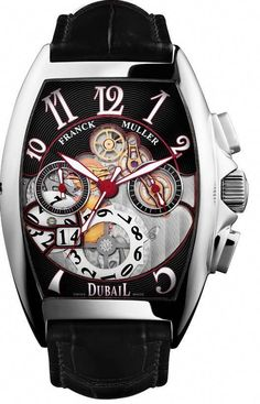 Franck Muller is very involved with the Dubail store and shows it with its exclusive limited edition. Elegant Watches, Stylish Watches, Beautiful Watches, Cool Watches, Casual Watches, Rolex Watches For Men, Seiko Watches, Luxury Watches For Men, Male Watches