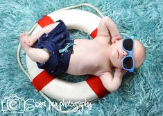 Newborn Baby Boy. Beach, Life Preserver, Lake, nautical. Sweet Pea Photography. Norwalk, OH