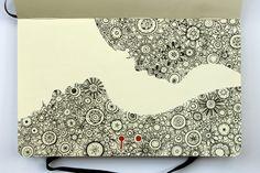 """Fancy a bite?"" by Major Lazor, Moleskine doodle""Fancy a bite?"" by Major Lazor, Moleskine doodle Doodle Art, Tangle Doodle, Doodles Zentangles, Zen Doodle, Zentangle Patterns, Doodle Drawings, Inspiration Art, Sketchbook Inspiration, Illustrations"