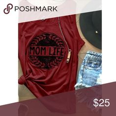 "⚡️NEW ARRIVAL⚡️ ""Mom Life"" sleeveless shirt 🌺Mommin' isn't easy. Show Mom you appreciate her with this awesome top.  I'm sure she'll wear it with pride🌺 Tops Tees - Short Sleeve"