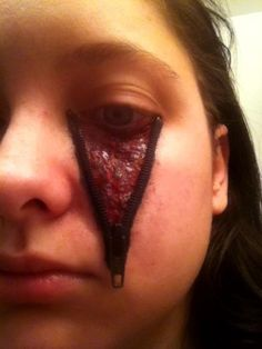 """My special effect makeup work. This is called """"unzipped""""."""