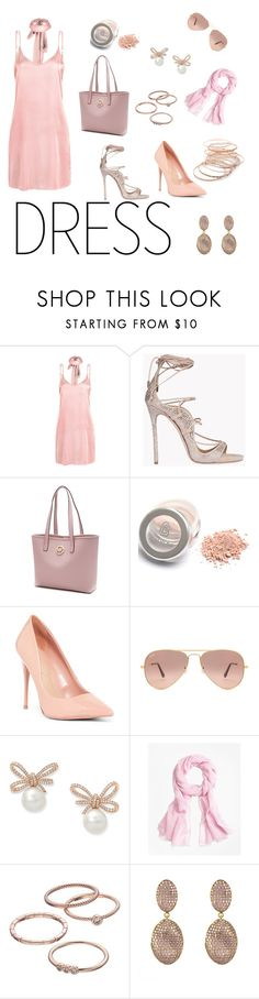 """Dress in Pink"" by zamstyle ❤ liked on Polyvore featuring WithChic, Dsquared2, Michael Kors, ALDO, Ray-Ban, Brooks Brothers, LC Lauren Conrad and Red Camel"