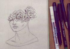 Hace un año atras hacía suculentas planas y en negro, sin matices y escasa profundidat 😊  .  .  .  .  .  .  #draw #drawing #drawoftheday  #dailydrawing #instart #art  #ink #instaink #inkwork #inkdrawing #illustration #illustrator #illustrationart #illustrationartist #instaillustration #dailyillustration #dibujo #ilustracion #sketch #sketchbook  #potrait #flowers #blackwork #flowercrown #botanic #botanical #succulents #suculentas #crown #creative