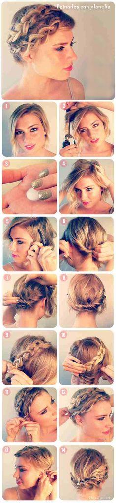 Peinados con plancha para cabello corto #1