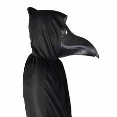 Halloween-Silber-Vogel-Schädel-Haar-Bindung Pest-Doktor-Krähe-elastisch Band PDH