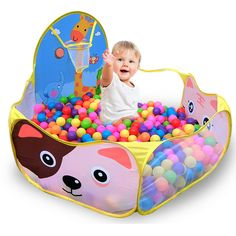 120*120cm Colorful Children Tent Ocean Ball Pool Game Play Tent Outdoor Kids House Garden Play Hut Pool Play Tent for Kids  #Affiliate